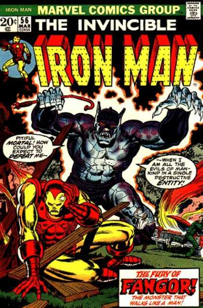 Iron Man 56 - Marvel - The Invincible - March - 20 Cents - Fury Of Fangor - Jim Starlin