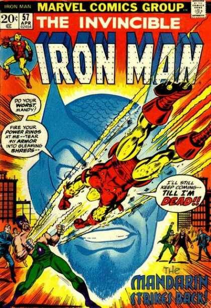 Iron Man 57 - Marvel Comics Group - Approved By The Comics Code - Superhero - Mandarin Strikes Back - Till Im Dead