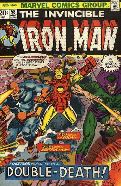 Iron Man 58 - Double-death - Brick - Cyclops - Mandarin - Destruction - Richard Buckler
