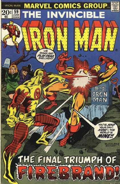 Iron Man 59 - Marvel Comics Group - June - 59 - Rip Iron Man - Firebrand - Joe Sinnott, Richard Buckler