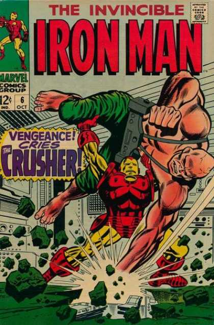 Iron Man 6 - Mutant - Battle - Metal Suit - Vengeance Cries The Crusher - Muscles - Whilce Portacio