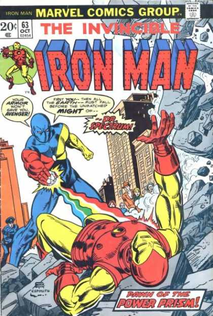 Iron Man 63 - Boulders - Cop - Buildings - Sphere - Prism