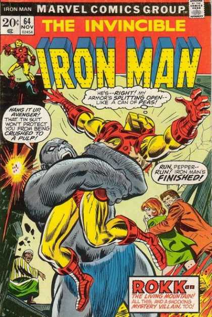Iron Man 64 - The Invincible - Iron Man - Marvel Comics Group - Rokk - The Living Mountain