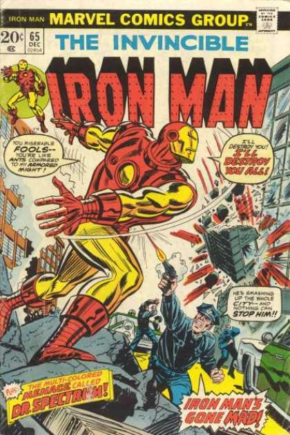 Iron Man 65 - The Invincible - Superhero - Destruction - December - Speech Bubble