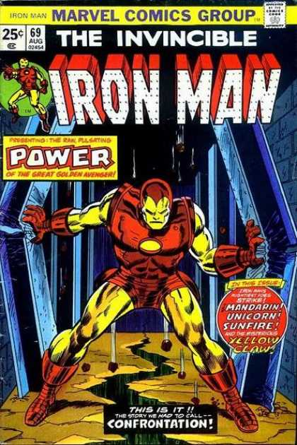 Iron Man 69 - Marvel Comics - Invincible - Mandarin - Unicorn - Yello Claw