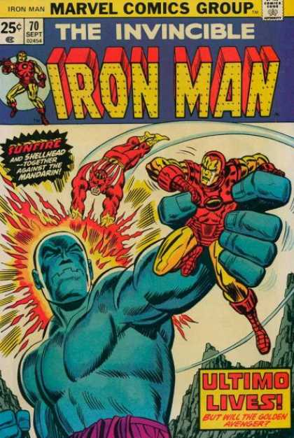 Iron Man 70 - Marvel Comics Group - Sunfire - Ultimo Lives - The Invincible - Shellhead