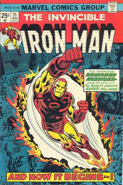 Iron Man 71 - The Invincible - Red Boots - Fire - 25 Cents - 71 - Gene Colan