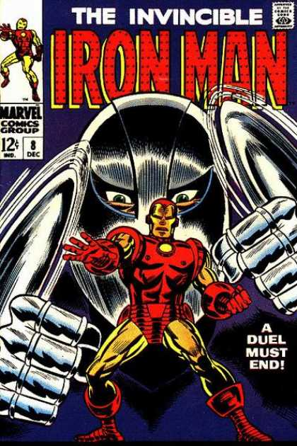 Iron Man 8 - A Dual Must End - Marvel Comics - Invincible - Fists - Green Eyes - Whilce Portacio