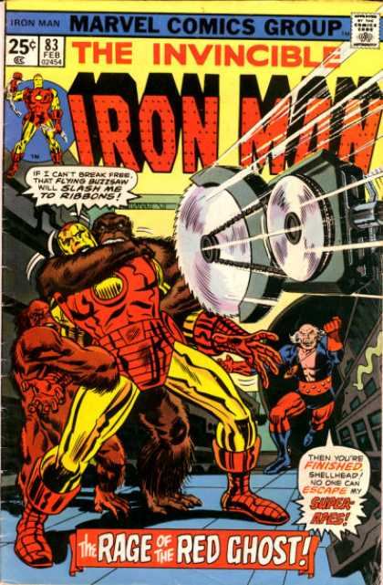 Iron Man 83 - Invincible Iron Man - Issue 83 - February Issue - Rage Of The Red Ghost - Red Ghost