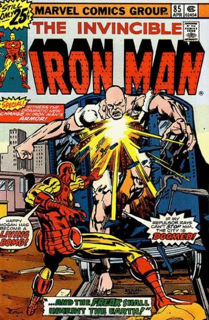 Iron Man 85 - Happy Hogan Hag Has Become A Living Bomb - If My Repulser Rays Cant Stop Him The City Is Doomed - And The Freak Shall Inherit The Earth - Special - Witness The Dramatic New Chang In Iron Mans Armor - Klaus Janson, Richard Buckler