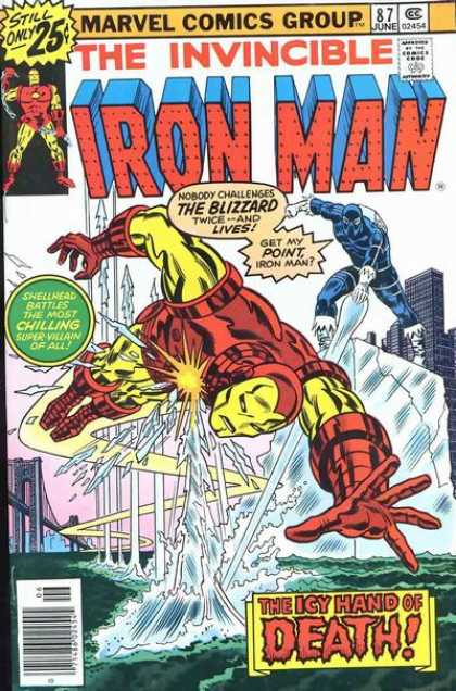 Iron Man 87 - Invincible - The Blizzard - Chilling - Villains - Icy Hand Of Death