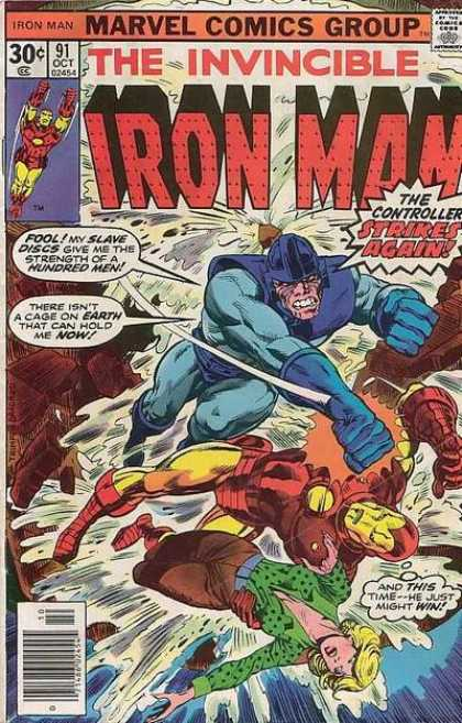Iron Man 91 - Marvel Comics Group - Superhero - Controller Strikes Again - Don Heck - Jack Kirby