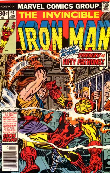 Iron Man 94 - Marvel - Superhero - Kirby - Sword - Underwater - Jack Kirby