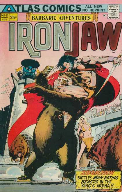 Ironjaw 2 - Man Eating Beast - Battle - Barbaric Adventures - Kings Arean - Atlas Comics