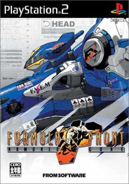 Japanese Games 11 - Playstation 2 - Formula Front - Armored Core - From Software - Futuristic Machine