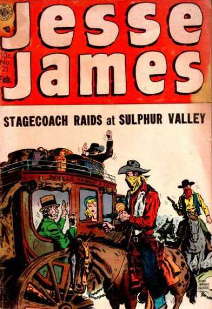 Jesse James 21 - Red - Oldies - Cow Boys - Horse - Robbers