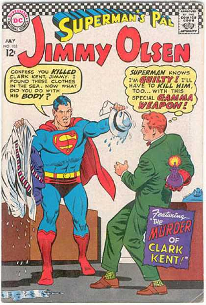 Jimmy Olsen 103 - Hat - Supermans Pal - The Murder Of Clark Kent - Shirt - Gamma Weapon
