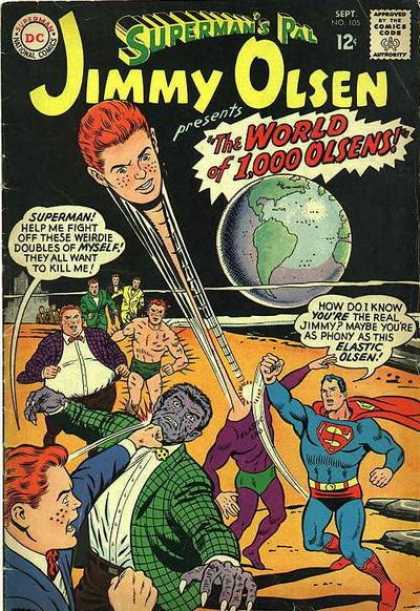 Jimmy Olsen 105 - Superman - Earth - Dont Lose Your Head - Criminals In Disguise - Fighting For Justice