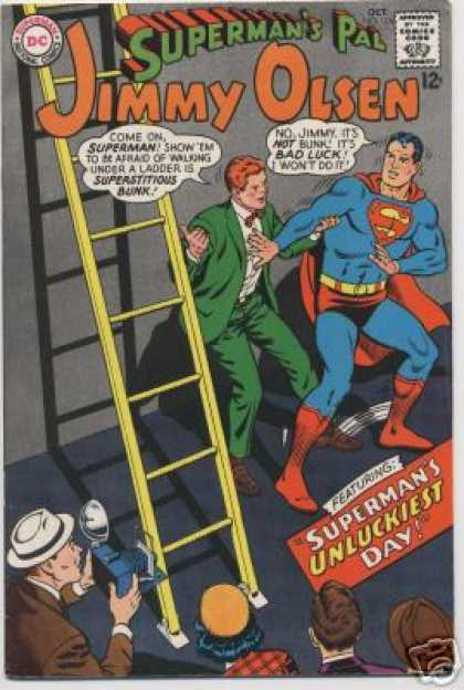 Jimmy Olsen 106 - Ladder - Superman - Camera