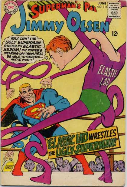 Jimmy Olsen 111 - Elastic Lad - Ugly Superman - Superman - Elastic Serum - Boxing