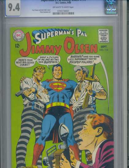 Jimmy Olsen 114 - Superman - Dc - Photographer - Convicts - Smiling