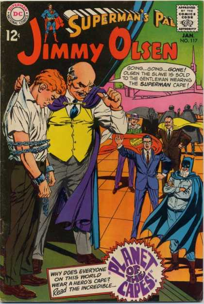 Jimmy Olsen 117 - Superman - Batman - Chains - Slave - Capes