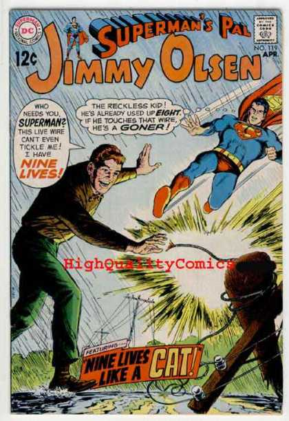 Jimmy Olsen 119 - Jimmy Olsen - Supermans Pal - Highqualitycomics - Nine Lives - Cat