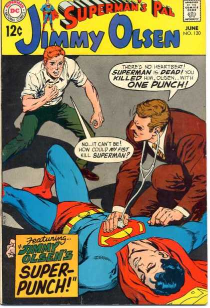 Jimmy Olsen 120 - Doctor - Trethoscop - Superman Died - One Man Watching - Super Punch