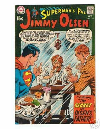 Jimmy Olsen 124 - Superman - Dc - National Comics - Approved By The Comics Code Authority - Supermeal