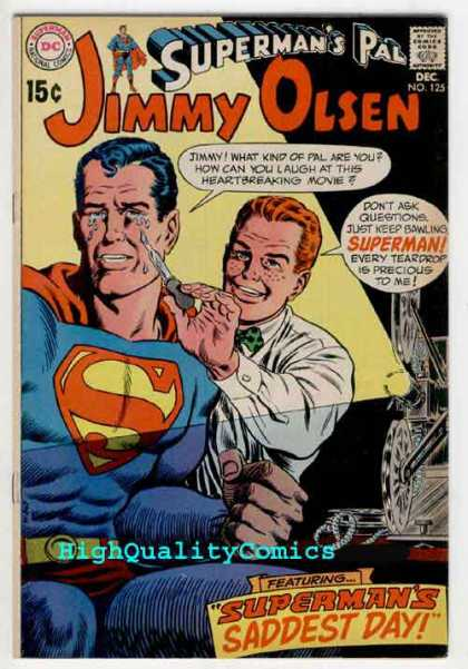 Jimmy Olsen 125 - Crying - Superman - Best Friends - Compromised - Young Love