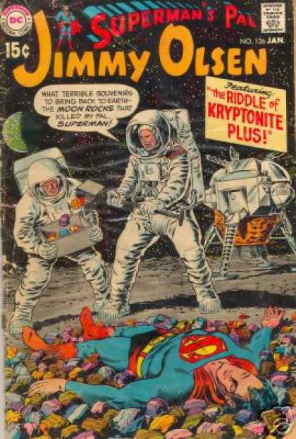Jimmy Olsen 126 - Astronauts - Supermans Pal - The Riddle Of Kryptonite Plus - Space - Moon Rocks