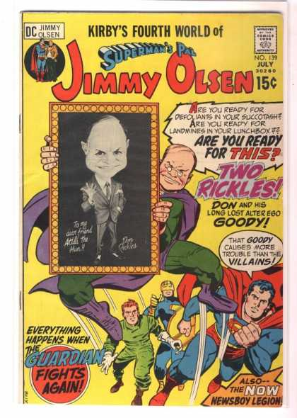 Jimmy Olsen 139 - Two Rickles - Superman - Kirbys Fourth World Of Supermans Pal - No 139 - Also The Now Newsboy Legion