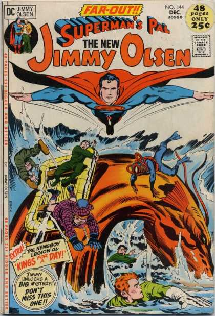 Jimmy Olsen 144 - Superman - Newsboy Legion - Sea Monster