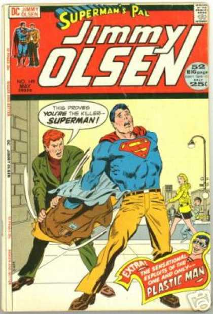 Jimmy Olsen 149 - Superman - Plastic Man - May - Clark Kent - Clothing