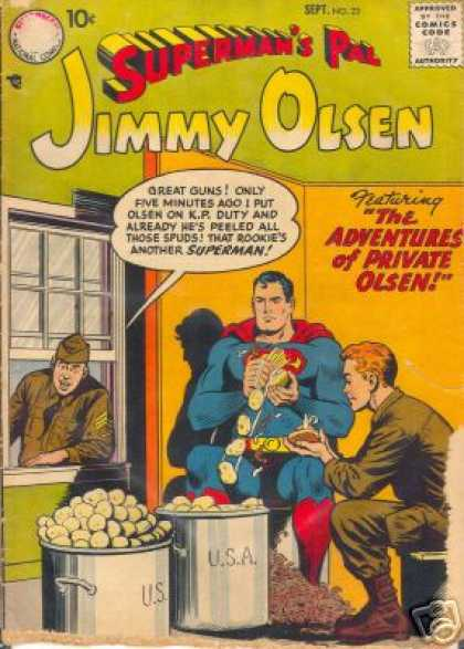 Jimmy Olsen 23 - Superman - Spuds - The Adventures Of Private Olsen - Rookie - Usa