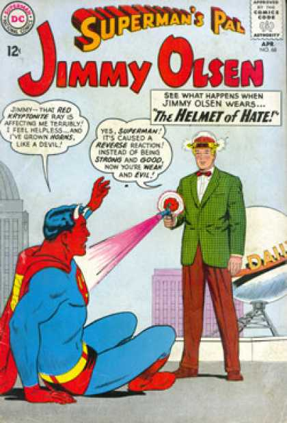 Jimmy Olsen 68 - Devil - Ray Gun - Pink Spray - Villain In Bowtie - Villain In Green Coat