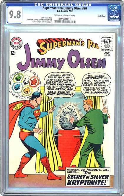 Jimmy Olsen 70 - Kryptonite - Superman - Curtain - Secret - Silver