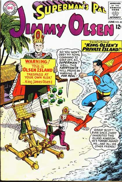 Jimmy Olsen 85 - Kryptonite - Superman - Island - Superhero - Olsen Island