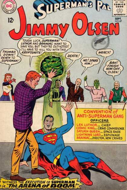 Jimmy Olsen 87 - Kryptonite - Brainiac - Luthor - Death - Approved By The Comics Code
