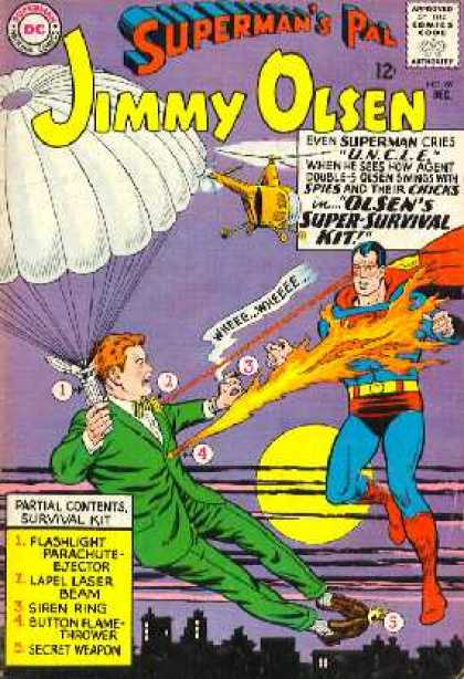 Jimmy Olsen 89 - Fire - Superman - Helicopter - Earplane - Fly