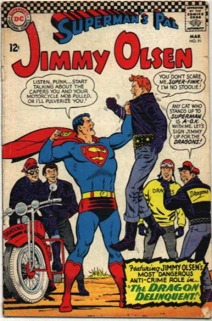 Jimmy Olsen 91 - Supermans Pal - Motorcycle - The Dragon Delinquent - Gang - Bikers