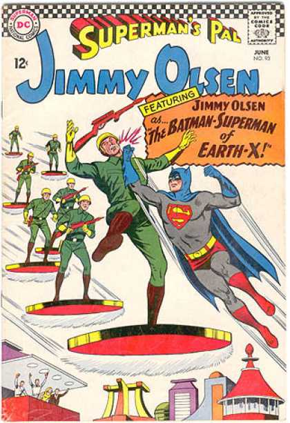 Jimmy Olsen 93 - Featuring Jimmy Olsen - The Batman-superman Of Earth-x - Soldiers - Rifles - Antigravity
