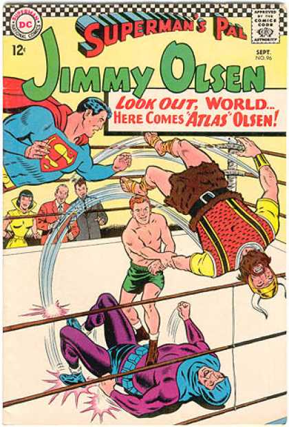 Jimmy Olsen 96 - Viking - Wrestling - Supermans Pal - Atlas - Boxing Ring