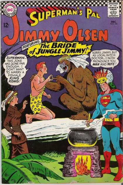 Jimmy Olsen 98 - Superman - The Bride Of Jungle Jimmy - Gorilla - Lady - Cooking Pot