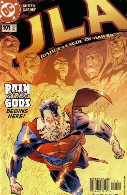 JLA 101 - Justice League Of America - Pain Of The Gods - Dc - No 101 - Superman - Ron Garney