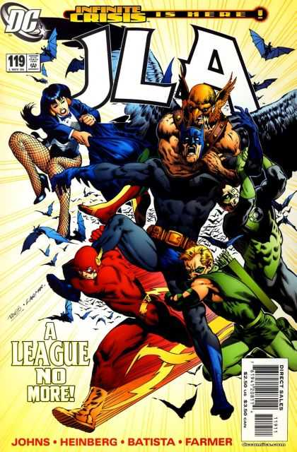 JLA 119 - Batman Goes Down - Whats Happened To Our Hero - Bad Guys Are Winning - Infinite Crisis Is Here - A League Is No More - Ralph Morales