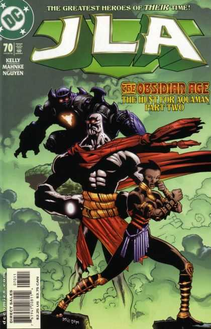 JLA 70 - The Hunt For Aquaman Part Two - The Obsidian Age - Cape - Cliffs - Clounds - Doug Mahnke