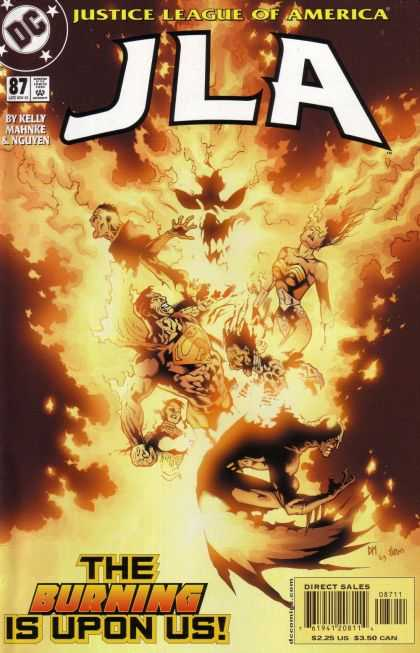 JLA 87 - Dc - Justice League Of America - By Kelly Mahnke U0026 Nguyen - The Burning Is Upon Us - Doug Mahnke