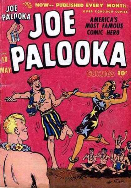 Joe Palooka 10 - May - Hula - Leis - Men - Woman - Joe Simon