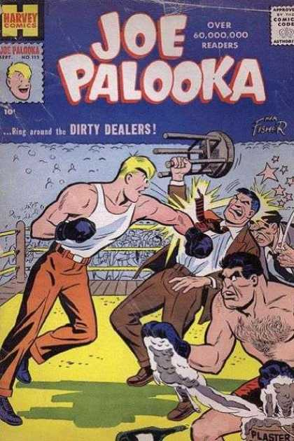 Joe Palooka 112 - Ring Around The Dirty Dealers - Boxing - Chair - Punch - Plaster